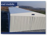 tunnel mobile doppia falda con telo in pvc